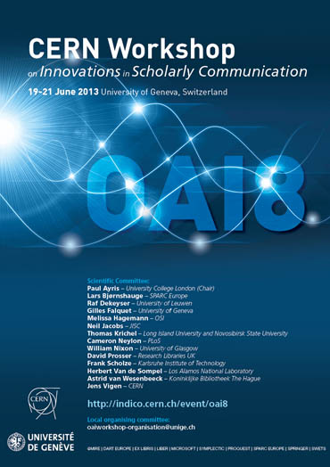 Poster for OAI8 (CERN Workshop on Innovations in Scholarly Communication