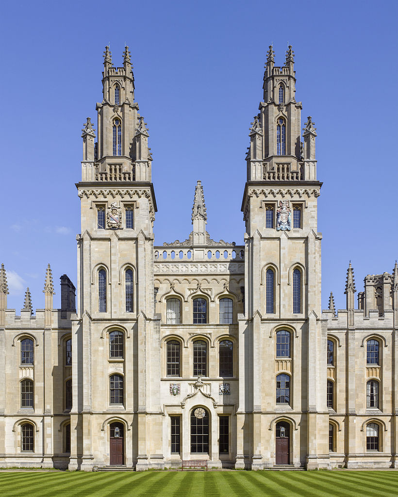 The Hawksmoor Towers of All Souls College, University of Oxford