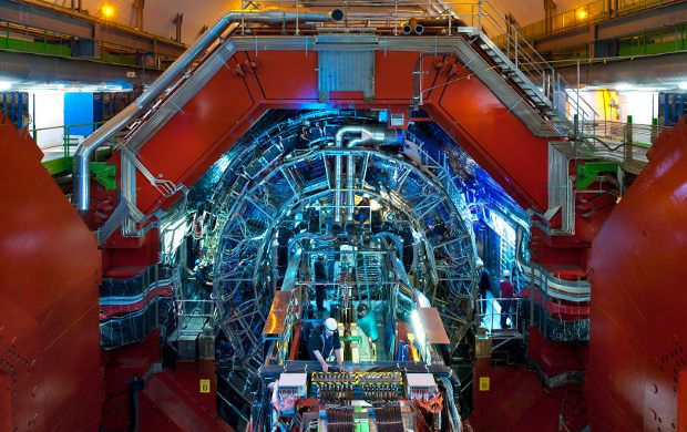 People working on the ALICE detector at the Large Hadron Collider