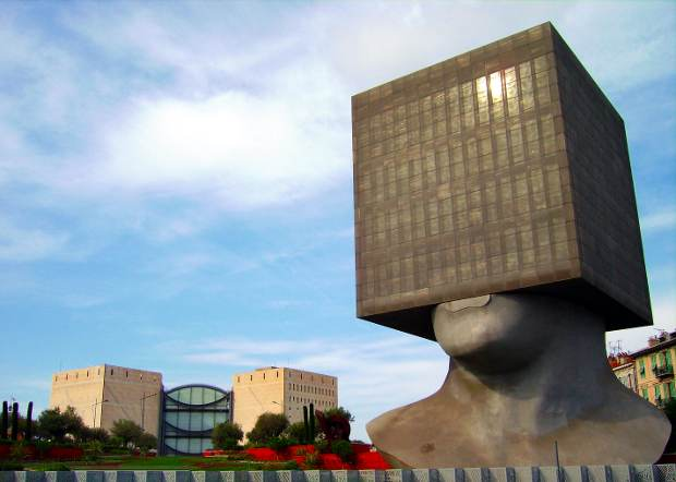 Tête carrée, or Square Head, a library in Nice, France