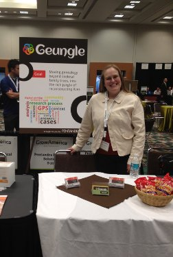 Katie at our half-table during the Grow America competition