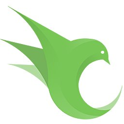 OpenResty logo: a green, finely articulated bird formed in the cyclical shape of an event loop, the beak almost touching the tail.